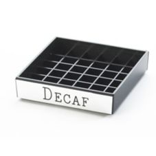 "Cal-Mil® 632-2 Square 4"" ""Decaf"" Spigot Drip Tray"