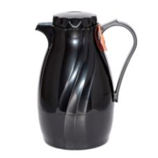 Service Ideas TNS40BL Twist N' Serv 1.2 Liter Black Plastic Server