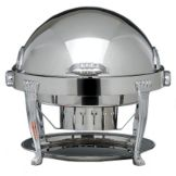 Bon Chef 13009 Elite Round 2 Gal Chafer w/ Silver Plated Aurora Legs