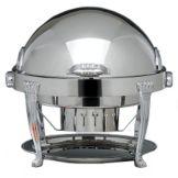 Bon Chef 13009 Elite S/S Rnd 2 Gal Chafer w/ Silver Plated Aurora Legs