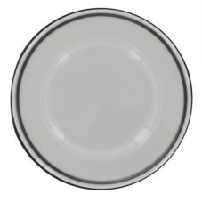 "Homer Laughlin 0369-1191 Seville® Platinum Line 9"" Plate - 24 / CS"