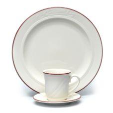 "Homer Laughlin 6041613 Lydia Maroon 6-3/8"" Plate - 36 / CS"