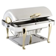 Bon Chef 19040 Elite S/S Rectangular 2 Gallon Chafer w/ Roman Legs