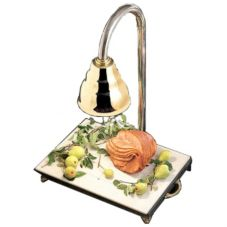 Bon Chef Black Speckled 24 x 18 Carving Station w/ Brass Heat Lamp