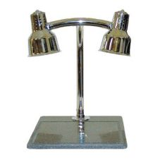 Hanson Brass DLM/BB/CH HD Dual Brass Lamp Warming Station / Black Base