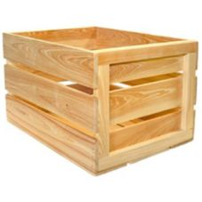 "Crate Farm FC-NA Natural 18"" x 14"" x 11-1/2"" Food Safe Field Crate"