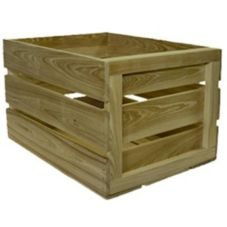 "Crate Farm FC-GR Green 18 x 14 x 11-1/2"" Food Safe Field Crate"