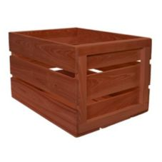 "Crate Farm FC-RD Red 18"" x 14"" x 11-1/2"" Field Crate"