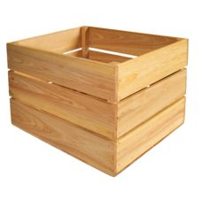 Crate Farm OC-1814-NA Bushel Natural Cypress Orchard Crate