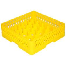 Traex® TR12A-08 Yellow 30 Compartment Glass Rack with 1 Extender