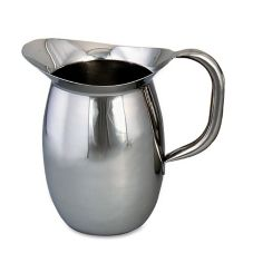Browne Foodservice S/S 3.1 Qt Bell Pitcher w/ Tubular Handle