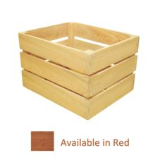 Crate Farm OC-1512-RD Half Bushel Red Stain Orchard Crate