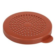 Cambro 96SKRLM408 Red Medium Grain Products Lid for Camwear Shakers
