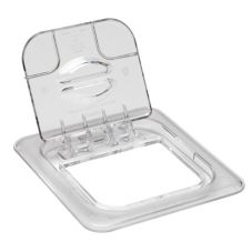 Cambro 60CWL135 Clear Camwear 1/6 Size Solid Food Pan FlipLid®