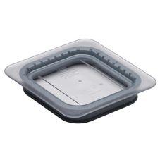Cambro 60CWGL135 Clear Camwear® 1/6 Size Food Pan GripLid™