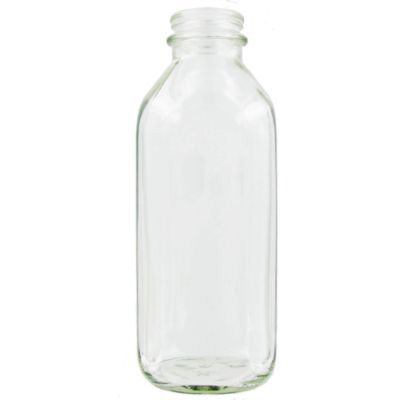 StanPac Plain Glass 1 Qt Milk Bottle