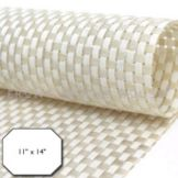 "FOH XPM046WHV83 11"" x 14"" Basketweave Placemat - 12 / CS"