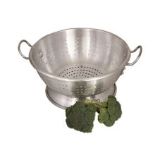 Browne Foodservice CA1611 10.4 Qt. Heavy-Duty Aluminum Footed Colander