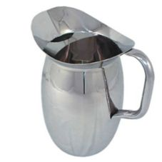 Update International BP-3G 3 Qt. Stainless Bell Pitcher with Ice Guard