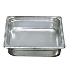 "Update International S/S 2-1/2"" Deep Half Size Steam Table Pan"