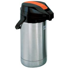 Update International Satin Finish S/S 2.5 L  Airpot / Orange Lever-Top