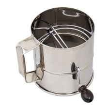 Browne Foodservice 1260 8-Cup Stainless Steel Rotary Flour Sifter