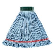 "Rubbermaid Web Foot Shrinkless Medium Blue Mop Head w/ 5"" Band"
