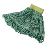 Rubbermaid FGD25106GR00 Super Stitch Small Green Blended Wet Mop Head
