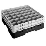 "Black 36 Compartment 6-1/8"" H Full Size Camrack with 2 Extenders"