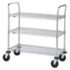 "Metro® 3SPN43ABR 21 x 36"" Cart With 3-Super Erecta® Shelves"