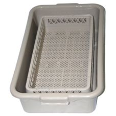 Vollrath 1393 Traex Open Half Rack Silverware Soak Rack w/ Half Tub