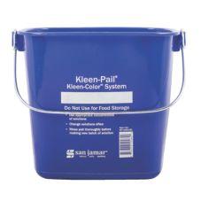 San Jamar® KP196KCBL Blue 6-Quart Keel-Pail®