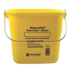San Jamar® Yellow 6-Quart Kleen-Pail®