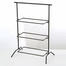 Culinaire IR-603B Black Rectangular Three Tier Riser