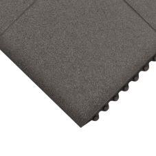 Apex™ 4457-150 Black 3' x 3' Click Mat Solid Floor Mat