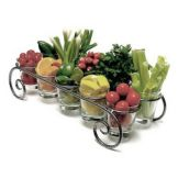 "Dine Art 4078-S Silver Vein 20"" x 9"" Garnish Caddy"