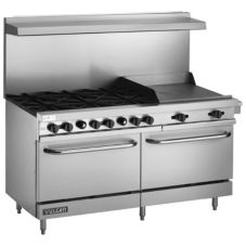 "Vulcan Hart V60 V Series 60"" Gas Restaurant Range with 10 Burners"