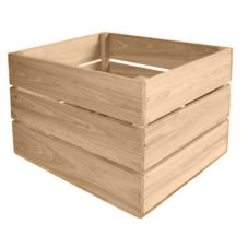 "Crate Farm AC-RW Raw Cypress 18"" x 14"" x 11-1/2"" Apple Crate"