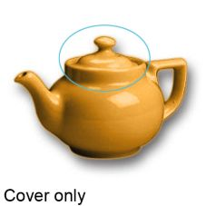 Hall China 22-C-YE Yellow Knob Cover f/ 16 Oz Boston Tea Pot - 12 / CS