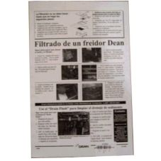 Dean® 8196278 Spanish /  English Fryer Poster