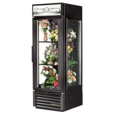 True GEM-23FC Black 23 Cu Ft 1-Swing Door Glass End Floral Case