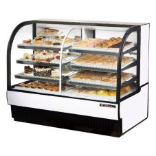 True® White Dual Zone Refrigerated/Dry Bakery Case, 30.4 Cubic Ft