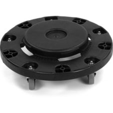 Carlisle® 3691003 Flo-Pac® Black Round Container Dolly