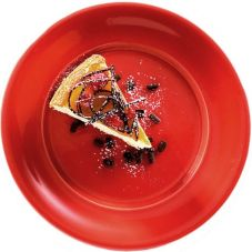 "Syracuse® 905257559 Serrano Cherry Red 11.5"" Plate - 12 / CS"