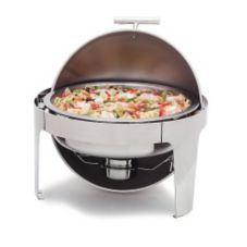 Carlisle 609578 Times Square 6 Qt. Roll Top Stainless Steel Chafer