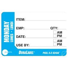 "DayDots 10260-01-31 2"" x 3"" Trilingual Monday Prep Label - 500 / RL"