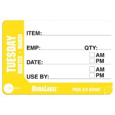 "DayDots 10260-02-31 2"" x 3"" Trilingual Tuesday Prep Label - 500 / RL"