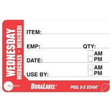 "DayDots 10260-03-31 2"" x 3"" Trilingual Wednesday Prep Label - 500 / RL"