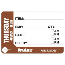 "DayDots 10260-04-31 2"" x 3"" Trilingual Thursday Prep Label - 500 / RL"