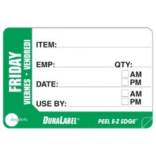 "DayDots 10260-05-31 2"" x 3"" Trilingual Friday Prep Label - 500 / RL"